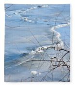 Ice Waves Fleece Blanket