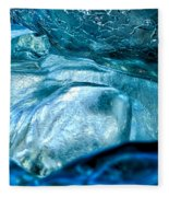 Iceberg Details #8 - Iceland Fleece Blanket