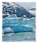 Iceberg Glacier Alaska  Fleece Blanket