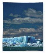 Iceberg In Viedma Lake - Patagonia Fleece Blanket