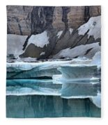 Iceberg Lake Icebergs Fleece Blanket