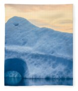 Iceberg On The Jokulsarlon Glacial Fleece Blanket