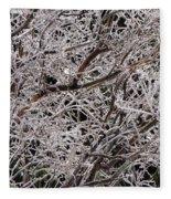Iced Branches Fleece Blanket