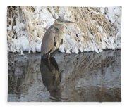 Iced Heron Fleece Blanket
