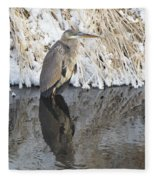 Iced Heron Fleece Blanket