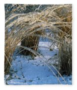 Iced Ornamental Grass Fleece Blanket