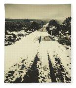Iced Over Road Fleece Blanket