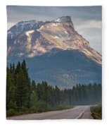 Icefields Parkway Banff National Park Fleece Blanket