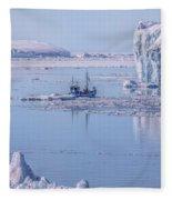 Icefjord In Greenland Fleece Blanket