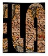 Iceland 1632 Fleece Blanket