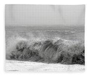 Iceland Black Sand Beach Wave Five Fleece Blanket
