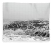 Iceland Black Sand Beach Wave Three Fleece Blanket
