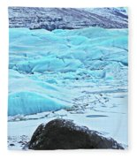 Iceland Glacier Bay Glacier Mountains Iceland 2 322018 1789.jpg Fleece Blanket