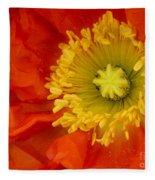 Iceland Poppy Fleece Blanket