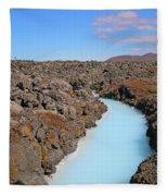 Iceland Tranquil Blue Lagoon  Fleece Blanket
