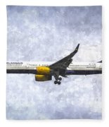 Icelandair Boeing 757 Art Fleece Blanket