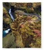 Icelandic Autumn Fleece Blanket