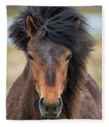 Icelandic Equine Beauty.. Fleece Blanket