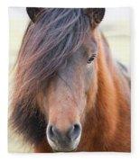 Iclelandic Horse Close Up Fleece Blanket