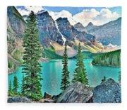 Iconic Banff National Park Attraction Fleece Blanket
