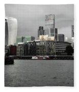 Iconic London Skyline Fleece Blanket