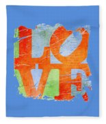 Iconic Love - Grunge Fleece Blanket
