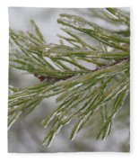 Icy Fingers Of The Pine Fleece Blanket