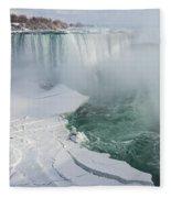 Icy Fury - Niagara Falls Spectacular Ice Buildup Fleece Blanket