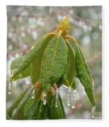 Icy Leaves Fleece Blanket