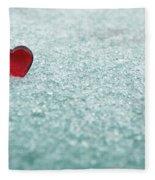 Icy Red Heart Fleece Blanket