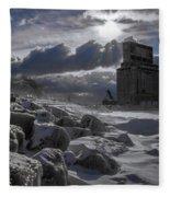 Icy Tundra In Buffalo Fleece Blanket