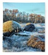 Icy Waters 2 Fleece Blanket