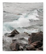 Icy Waves Fleece Blanket