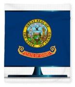 Idaho Flag Tv Fleece Blanket