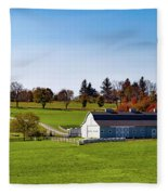 Idyllic Autumn Farm Fleece Blanket