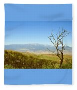 Idyllwild Mountain View With Dead Tree Fleece Blanket