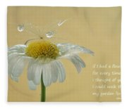 If I Had A Flower Quote Fleece Blanket