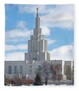 If Temple Against The Sky Fleece Blanket