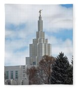 If Temple Dusted In Snow Fleece Blanket