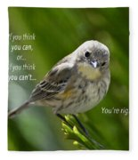 If You Think You Can - Henry Ford Fleece Blanket