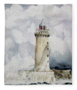 ighthouse Kereon Ouessant island Britain Fleece Blanket