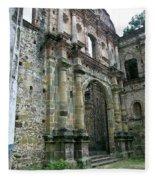 Iglesia De La Compania De Jesus 2 Fleece Blanket