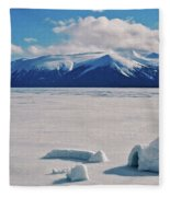 Igloo On Atlin Lake - Bc Fleece Blanket