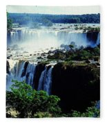 Iguacu Waterfalls Fleece Blanket