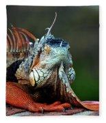 Iguana Fleece Blanket
