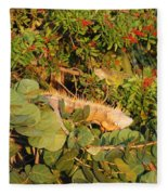 Iguanas Fleece Blanket
