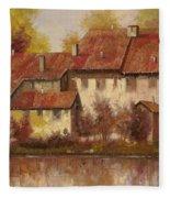 Il Borgo Rosso Fleece Blanket