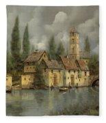 Il Borgo Sul Fiume Fleece Blanket