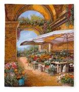 Il Mercato Sotto I Portici Fleece Blanket