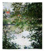 Ile De La Grande Jatte Through The Trees Fleece Blanket